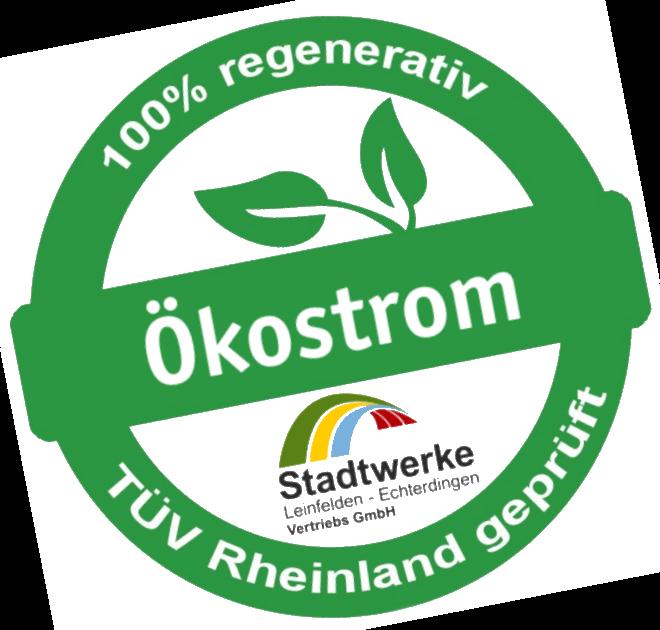 Ökostromsiegel TÜV Rheinland geprüft