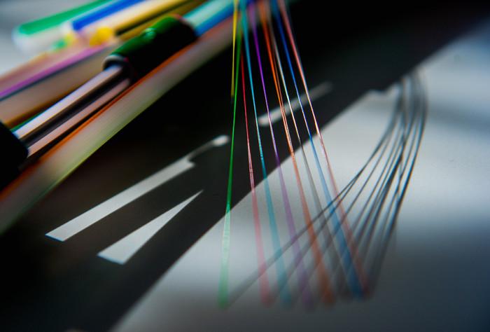 Detailaufnahme einzelner Glasfasern